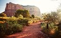 Red rock mountains in Sedona at morning Royalty Free Stock Photo