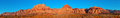 Red rock nevada very large panorama of area outside of las vegas Royalty Free Stock Image