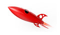 Red rocket flying Royalty Free Stock Photo