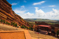 Red rocks amphitheater in denver colorado july famous historic near colorado Royalty Free Stock Images