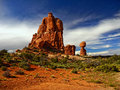 Red Rocks, Arches National Park, Utah Royalty Free Stock Photo