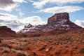 Red rocks formations along colorado river near arches park utah Stock Photo