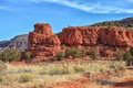 Red Rocks in Jamez, New Mexico Royalty Free Stock Photo
