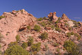 Red Rocks landscape in the Desert Royalty Free Stock Photo
