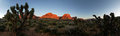 Red Rocks Morning Panorama Royalty Free Stock Photo