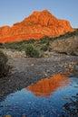 Red Rocks Mountain Reflection Royalty Free Stock Photo