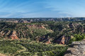 Red Rocks in Palo Duro Canyon Royalty Free Stock Photo