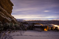 Red Rocks Park by night Royalty Free Stock Photo