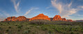 Red Rocks Sunrise Panorama Royalty Free Stock Photo