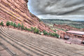 Red rocks theater colorado the amphitheater lanscape formations in denver Stock Image