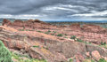 Red rocks theater colorado the amphitheater lanscape formations in denver Stock Photos