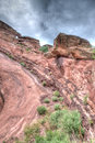 Red rocks theater colorado the amphitheater lanscape formations in denver Royalty Free Stock Image