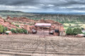 Red rocks theater colorado the amphitheater lanscape formations in denver Royalty Free Stock Photos