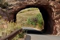 Through the Red Rocks Tunnel Royalty Free Stock Photo