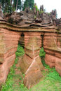 Red rocks of zhangjiajie hunan province china Royalty Free Stock Images