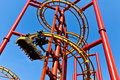 Red roller coaster Royalty Free Stock Photos