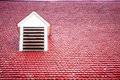 Red Roof with Dormer Royalty Free Stock Photography