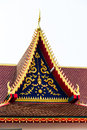 Red roof temple thailand art Royalty Free Stock Photo
