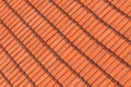 Red roof tile pattern close up Stock Images