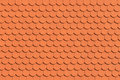 Red roof tile pattern close up Royalty Free Stock Photo