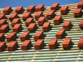 Red roof tiles Royalty Free Stock Photos