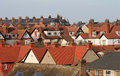 Red roof tops modern housing estate scarborough england Royalty Free Stock Photo