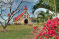 Red roofed church in Mauritius Royalty Free Stock Photo