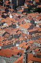 Red roofs of Dubrovnik Royalty Free Stock Photo