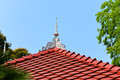 Red roofs on hotel with tree Royalty Free Stock Images