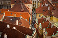 Red roofs of Prague Stock Photography