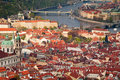 Red roofs of prague Royalty Free Stock Photo