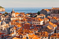 Red Roofs in Unesco Heritage Dubrovnik Royalty Free Stock Photo