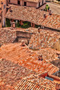Red roofs of village in Provence, France Royalty Free Stock Photo