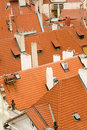 Red rooftops Royalty Free Stock Photography