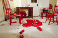 Red room a of destructive beauty Royalty Free Stock Photos