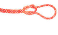 Red rope knot with loop Stock Photography