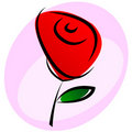 Red rose. Royalty Free Stock Photography