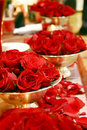 Red rose arrangements Royalty Free Stock Images
