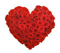Red rose flower bouquet heart shape Royalty Free Stock Photo