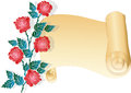 Red rose and the list (vector) Royalty Free Stock Photography