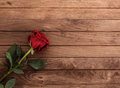 Red rose on table Royalty Free Stock Photo