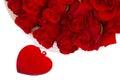Red Roses In Basket For Valent...