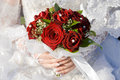 Red roses bouquet Stock Image