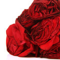 Red roses in close up romantic background Stock Photo