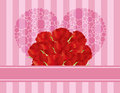 Red Roses Heart Greeting Card Royalty Free Stock Images