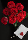 Red roses with romantic not for text Stock Image