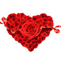 Red roses in the shape of a heart Royalty Free Stock Photography