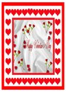 Red Roses Valentine card Stock Photos
