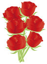 Red Roses for Valentines Day Illustration Royalty Free Stock Photos