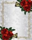 Red roses wedding invitation Royalty Free Stock Photo